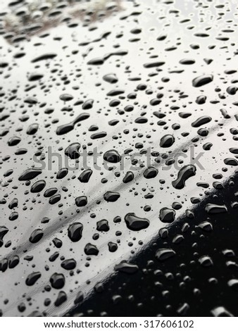 drops of water - stock photo