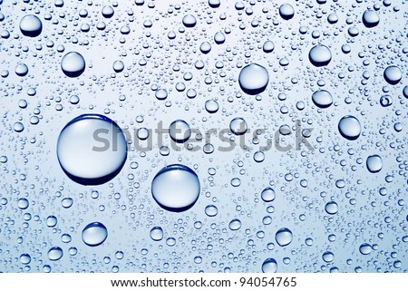 drops of water abstract macro photo - stock photo