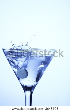 Drops of water in a glass