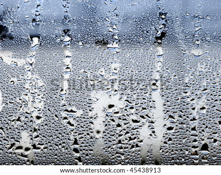 drops of water in a window - stock photo