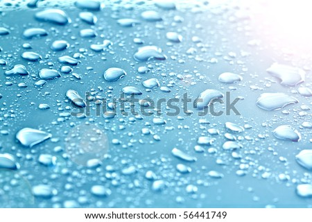 drops of water on floor - stock photo