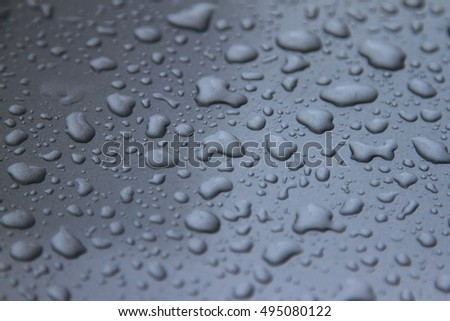 drops of water-repellent surface in black