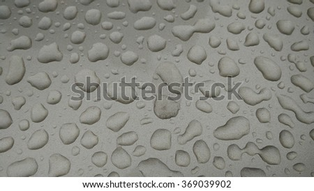 drops of water-repellent surface in black & white - stock photo