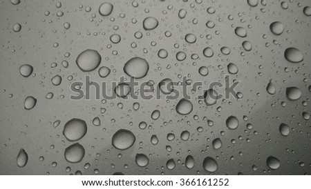 drops of water-repellent surface in black & whitei - stock photo
