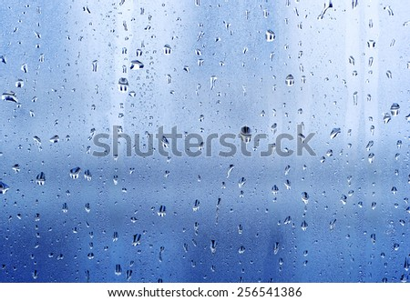 Drops on the windowpane - stock photo