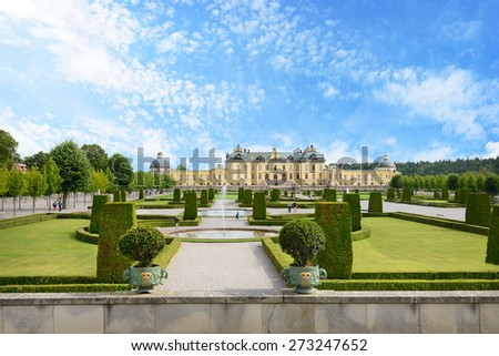 Drottningholm palace. Sweden - stock photo