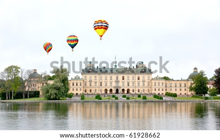 Drottningholms Palace in the Stockholm city, Sweden - stock photo