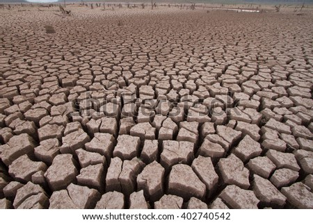 Drought at Lampang province, Thailand. Impact from odd weather no raining all the years. - stock photo