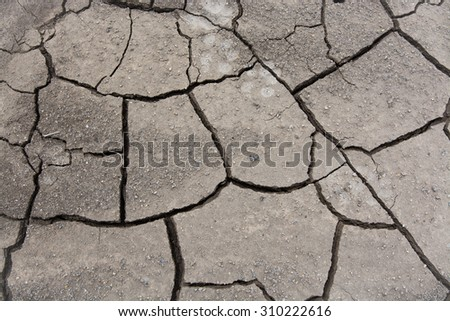 drought dry soil surface texture background - stock photo