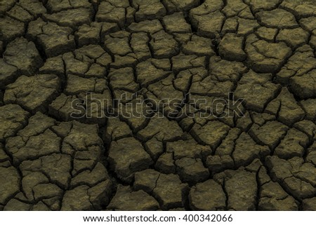 Drought effect of the shortage of water - stock photo