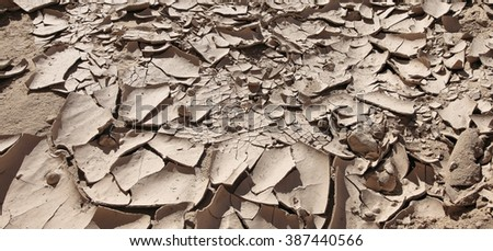 Drought. Soil (ground) cracks. Abstract background