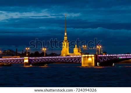 Drowbridge in Saint Petersburg