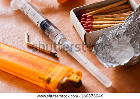 Drug Addiction - stock photo