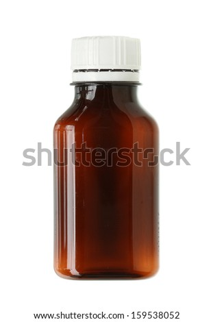 Drug bottle isolated on white background - stock photo