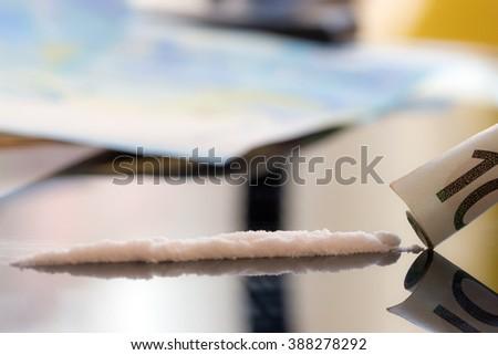 drug cocaine - stock photo