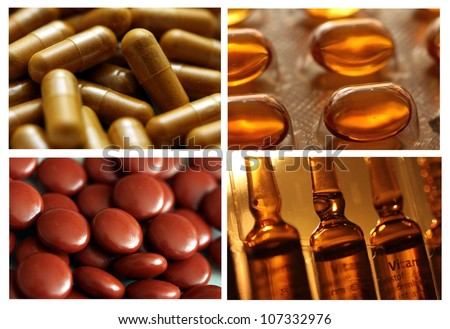 drug / medicine picture collection 3 - stock photo