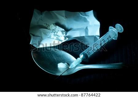 Drug paraphernalia - stock photo