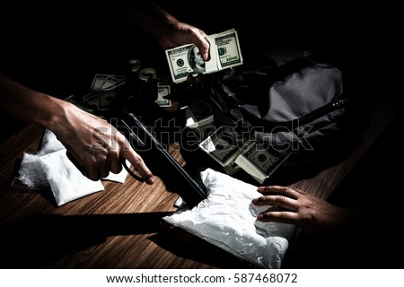 Drug Trafficker Holding A Lot Of Cash On Hand And Use Gun Pushing Drugs To The