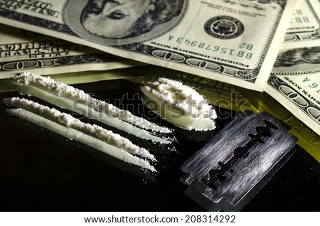 Drugs and Money   - stock photo