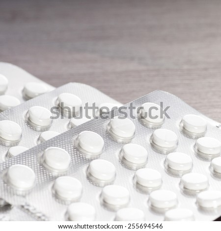drugs and pills on the table