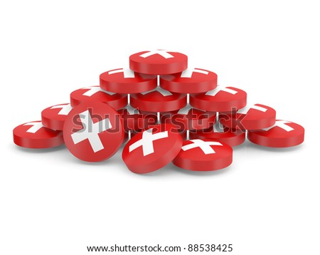 Drugs. 3D model of tablets - stock photo