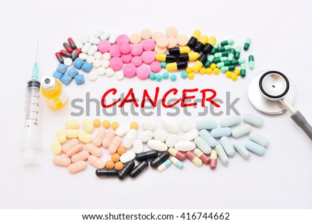 Drugs for cancer treatment, medical concept - stock photo