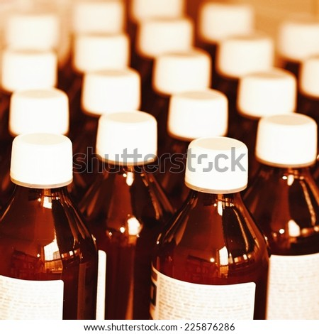 drugs in the pharmacy - stock photo