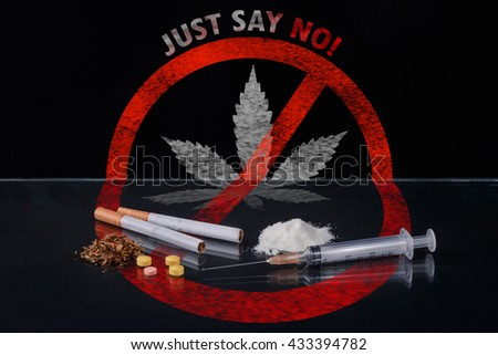 Drugs! just say no day world concept. - stock photo