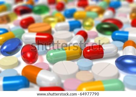 Drugs. Selective focus effect - stock photo