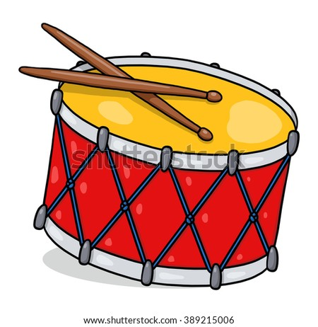 Drum illustration; Isolated snare drum - stock photo