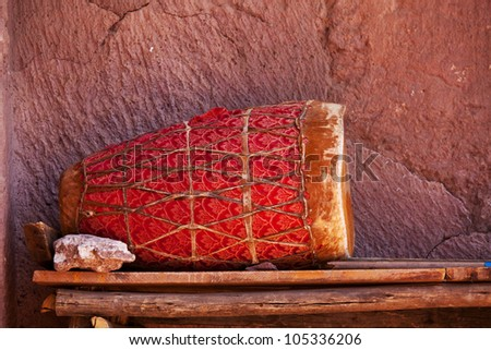 Drum in Lalibela,Ethiopia - stock photo