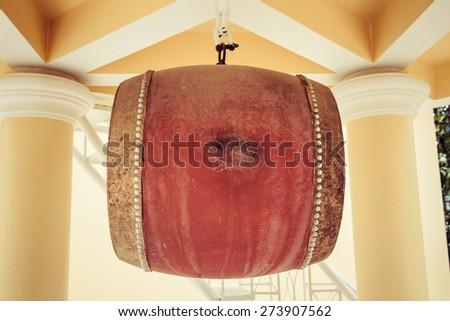 drum of temple thailand - stock photo
