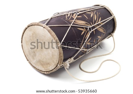 drum on the isolated white background - stock photo