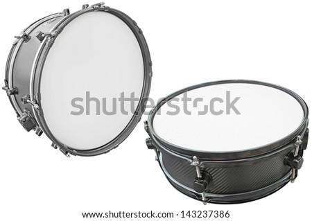 drums isolated under the white background