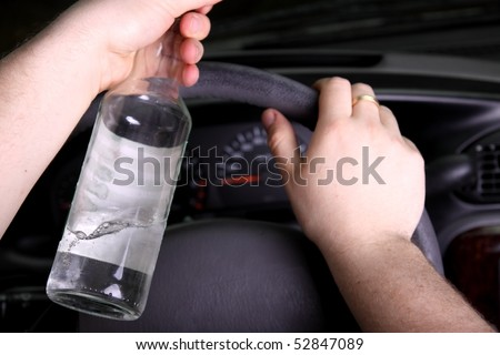 Drunk driver - stock photo