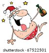 Drunk Santa Clause - stock photo