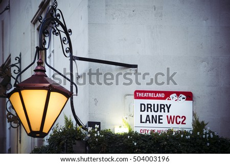 Drury Lane in London theatre land with room for text