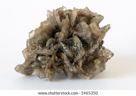 Druze of gypsum crystals from Kara-Kum desert, Turkmenistan - stock photo