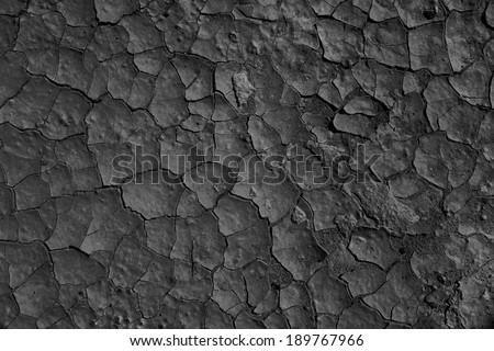 dry black floor - stock photo
