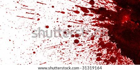 Dry blood splatter - stock photo
