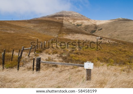 Dry brown hills, Los Osos, California - stock photo