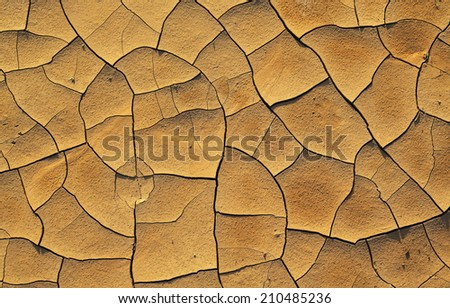 Dry cracked earth texture, background - stock photo