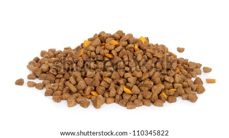Dry dog food - stock photo