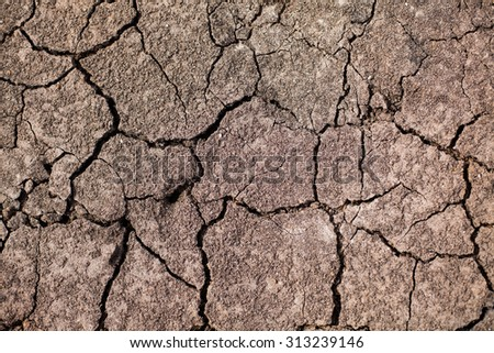 Dry Earth Texture from drought - stock photo