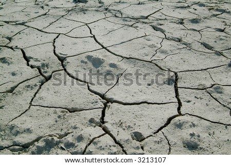 dry earth with cracks - stock photo