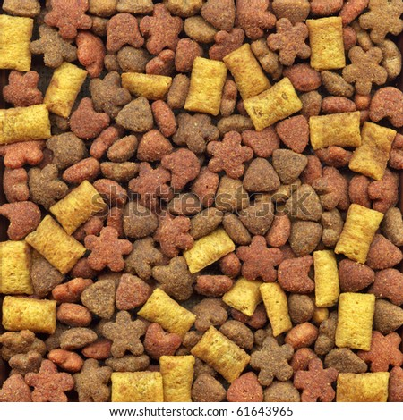 Dry food for dogs, collection of loose products - stock photo