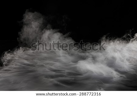 Dry ice  Smoking - stock photo