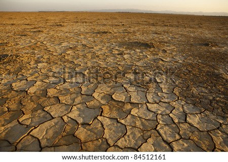 dry lake - stock photo