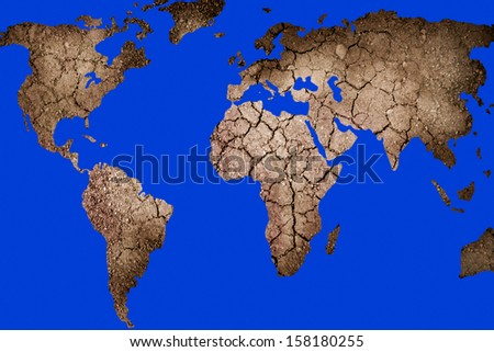 Dry landscape shape world map stock photo royalty free 158180255 dry landscape in the shape of the world map gumiabroncs Image collections
