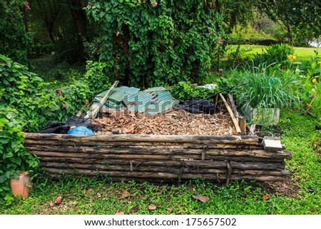 Dry Leaves for Organic Fertilizer. - stock photo